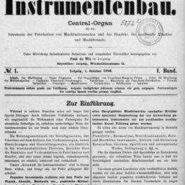 Zeitschrift für Instrumentenbau